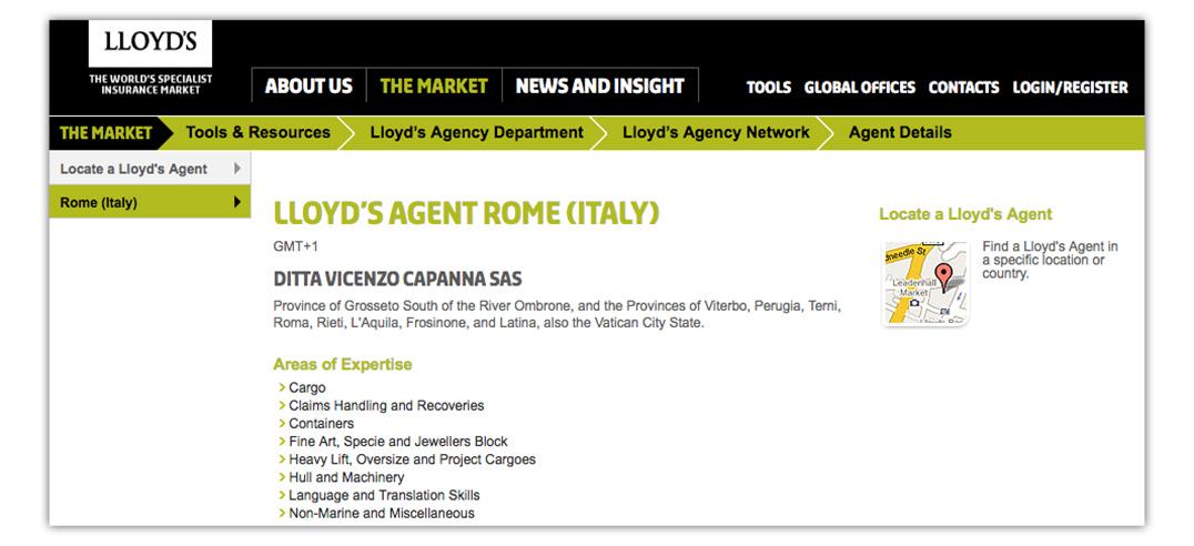 rome lloyds agent